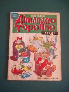 ALMANACCO TOPOLINO 1961 NUM 4 BUONO + FIGURINE