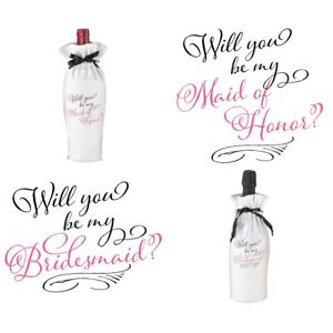 Will You Be My Bridesmaid Maid of Honor Bottle Gift Box Wedding Ask Proposal
