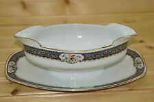 """MZ Altrohlau ALT39 Gravy Boat with attached Underplate, 9"""" x 6 1/4"""""""