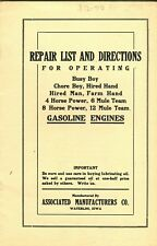 Associated Manufactures Co. Manual Busy Boy, Chore Boy, Hired Hand, etc