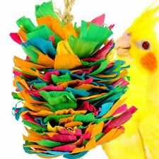 41336 Mini Corn Silk Cascade Bird Toy Cage Toys Cages Foraging Chew Shredder