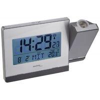 Technoline WT 538 Silber Wecker mit Uhrzeit-Projektion Uhr Alarm