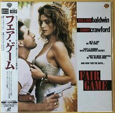 "1996 ""Laserdisc"" Fair Game (1995) PILF-2250 Japan Cindy Crawford William Baldwin"