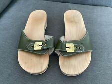 Scholl Dark Green Pescura Heel Sandals Size 4 Very Minimally Worn Unboxed