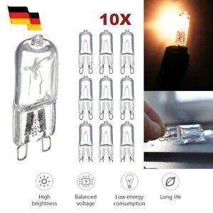 10 x G9 Halogen Lampen 25W 40W Halopin Stiftsockel Leuchtmittel 220V Birne Licht