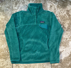 Patagonia Re-Tool Fleece Snap-T Womens Pullover Jacket Sz Small Teal Green
