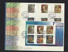 China Hong Kong 2010 Street Scenes Stamps set FDC