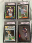 Lot Of 4 Rookie Cards. Henderson, Jeter, Montana And Young!! KSA Graded 9.5 & 10