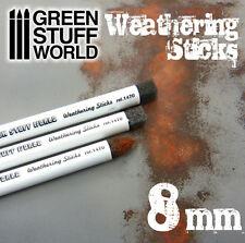 Pinceles Weathering 8mm - Esponja para Efecto Oxido, Barro, Envejecer - Pigmento