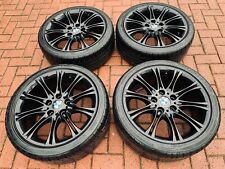 "Genuine BMW Staggered 18"" MV2 Alloy Wheels E36 E46 E90 E92: Gloss Black MV1 MV3"