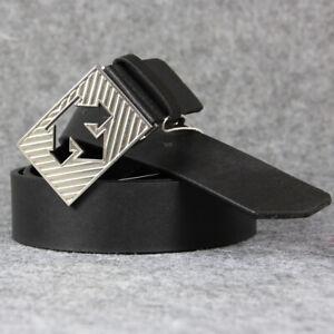 Golf Sport Pants Belt Casual Wear Descente Vector Logo Solid Plate White Black