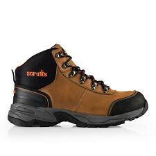 SCRUFFS BROWN ASSAULT SAFETY WORK BOOT STEEL TOE CAP LEATHER UPPER SIZE 10 ONLY
