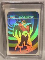 1990 Marvel Universe Cosmic Hologram Magneto Xmen- See Photos (Read)