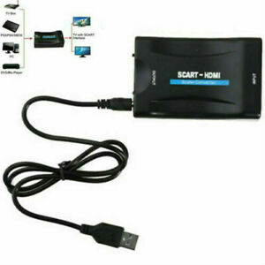1080P HDMI to Scart compatible Video Audio Upscale Converter Signal Adapter