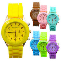 New Men Womens Ladies Unisex Geneva Jelly Gel Quartz Sports Wrist Watch Watches
