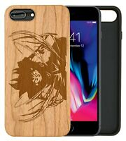 Goku Charge DBZ Natural Carved Wooden Phone Case for IPHONE SAMSUNG HUAWEI PIXEL