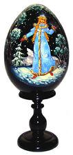 Oeuf La fille de neige Artisanat Russe Oeuf Collection Russe en Bois cadeau Noel
