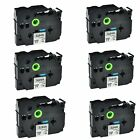 """6PK TZ241 TZe241 Black on White Label Tape for Brother P-touch PT-3600 3/4"""""""