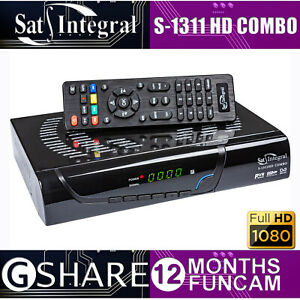 SAT-IINTEGRAL S-1311 HD COMBO SAT+T2 (! 12 MONTHS GSHARE ! FREE SATELLITE TV !)
