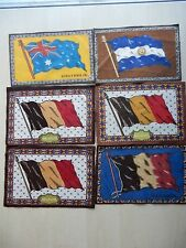 """20 World War II Country Cloth Flags All Approximately 5"""" X 8"""" In Size"""