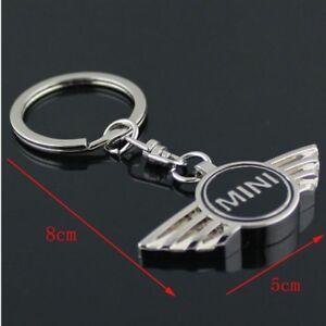 Mini Cooper Emblem 3D Car Key Ring Keyring Key Chain  Black