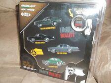 NEW IN BOX STEVE MCQUEEN BULLITT 4 PK 1/64 DIECAST TOY CARS MOVIE FILM REEL CASE
