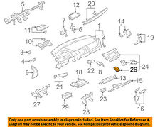 MITSUBISHI OEM 12-15 Lancer Dash AC A/C-Air Vent Center Duct Left 8030A229HA