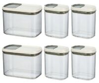 New Better Homes & Gardens 6 pack Shake & Store Container w/Labels - 2 way Lids