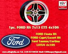 1 Cerchio FORD LOTUS TALBOT RS 7x13 ET+5 4x108 Escort Capri Taunus Cortina wheel