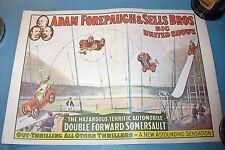 ADAM FOREPAUGH & SELLS BROS. BIG UNITED SHOWS Auto Stunt 16x20 Mini Poster