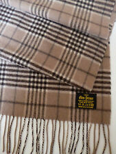 Glen Prince soft lambswool stole beige brown check NEW womens ladies shawl wrap