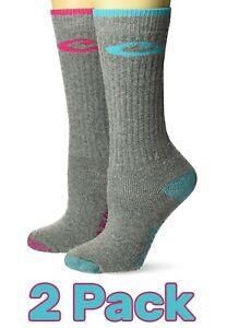Drake Womens Outdoor Merino Wool Acrylic Nylon Cushion Boot Crew Socks 2 Pack