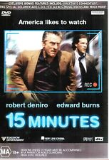 R4 LIKE NEW DVD 15 MINUTES  ROBERT DENIRO EDWARD BURNS DARK HUMOUR (MA 15+)2001*