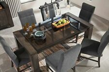 Ashley Furniture Chansey 7 Piece Dining Set Table W/ Glass Table Top D667 25