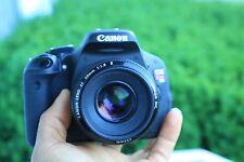 Canon EOS Rebel T3i / 600D 18.0 MP SLR With 50mm F/1.8 II Lens. Freeshipping!