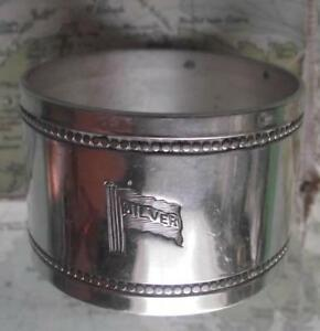 c1920 Original Emmigrant Ship silver LINE silver plated Napkin Ring