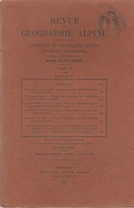Blanchard : revue de géographie alpine, tome XI, fascicule II, 1923