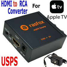 HDMI to 3RCA Composite AV Converter for AppleTV Apple TV 1/2/3/4 Generation