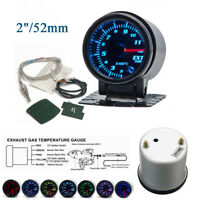 "2""/52mm 7 Color LED Car Exhaust Gas Temp Gauge Ext Meter EGT With Sensor&Holder"