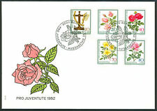 Flowers First Day Cover Swiss Stamps