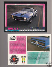 1970 FORD MUSTANG SHELBY GT500 CONVERTIBLE V8 Muscle Car Photo 1991 TRADING CARD