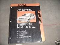 1994 Toyota Tercel Service Shop Repair Workshop Manual OEM 94