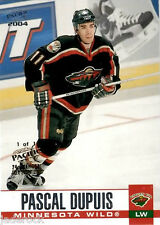 """Pascal Dupuis 2003-04 Pacific """"1 of 1 24th National"""" Gold Stamp #163 (#1/1) RARE"""