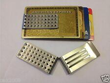 Acero Inoxidable fuerte dinero Clip Holder Slim Hombre tarjeta de crédito Id Cartera Regalo del Reino Unido