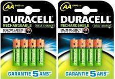 8 x AA Duracell 2400 mAh Duralock Rechargeable Batteries Battery Digital Cameras