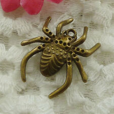 Free Ship 30 pieces bronze plated spider charms 29x26mm #1290