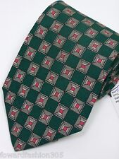 """Jos A. Banks""""Premier Collection* Mens Neck tie In Hunter Green with pattern in"""