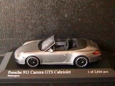 PORSCHE 911 997 II CARRERA GTS CABRIOLET 2011 METEORGRAU METAL MINICHAMPS 1/43