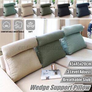 Ergonomisches Rückenkissen mit Nackenrolle Keilkissen 45cm Für Sofa Bett Büro DE