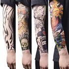 2x Nylon Fake Temporary Tattoo Sleeve Arm Stockings Tatoo For Men Women JS